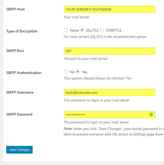 How to Setup SMTP Authentication in WordPress   WPHelper com